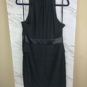 Evan Picone Dresses - Evan Picone black ruffle dress, sz 14